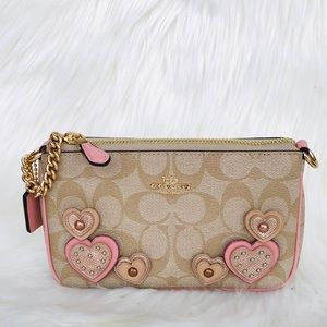 NWT: COACH Large Wrislet in Signature Canvas